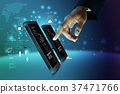 Digital world concept 37471766
