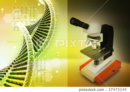 microscope on abstract background 37473145