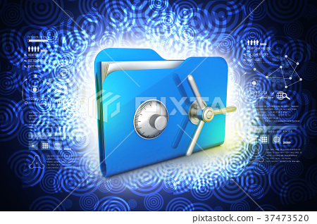 folder with safe lock 37473520