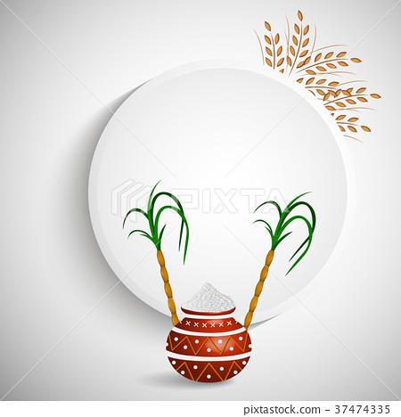 illustration of Indian festival Pongal background 37474335