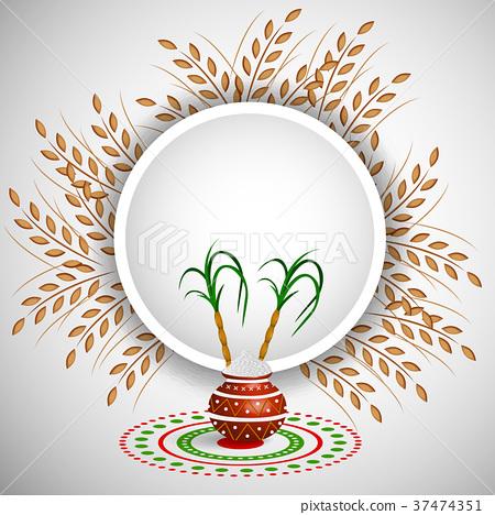 illustration of Indian festival Pongal background 37474351
