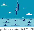 Business taking risks. Concept business vector 37475678