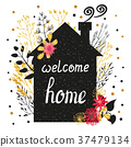Welcome home illustration with house 37479134