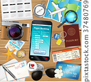 online flight booking app with many travel object 37480769