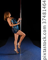 Young sexy pole dance woman 37481464