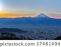 【Yamanashi Prefecture】 Night view of Kofu city and Mt. Fuji 37481494