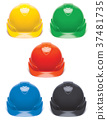 Working Hard Hat set. Safety Helmet isolated 37481735
