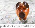 银行 河岸 小猪 37481817