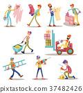 Construction builders or workers men vector 37482426