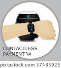 vector, smartwatch, payment 37483925