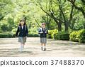兒童小學生入學儀式形象 37488370