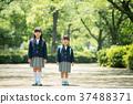 兒童小學生入學儀式形象 37488371