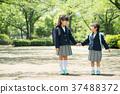 兒童小學生入學儀式形象 37488372