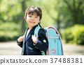 兒童小學生入學儀式形象 37488381