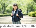 兒童小學生入學儀式形象 37488382