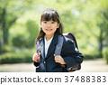 兒童小學生入學儀式形象 37488383