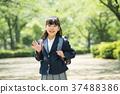 兒童小學生入學儀式形象 37488386