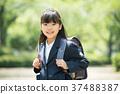兒童小學生入學儀式形象 37488387