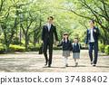 가족 초등학생 통학 통근 입학식 이미지 37488402