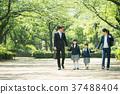 가족 초등학생 통학 통근 입학식 이미지 37488404