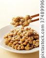 natto, fermented soybeans, stickiness 37489996