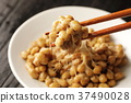 natto, fermented soybeans, stickiness 37490028