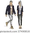 Vector woman and man 37490816