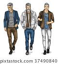 Vector young man models 37490840