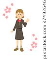 girl, school uniform, high school student 37492646