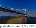 Akashi Kaikyo Bridge Night view 37492855