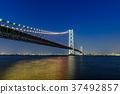 Akashi Kaikyo Bridge Night view 37492857