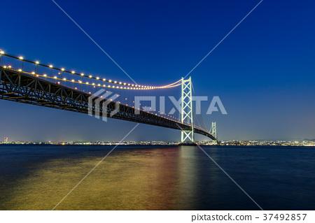 夜景 桥 桥梁 37492857