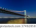 Akashi Kaikyo Bridge Night view 37492858