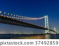明石海峡大桥夜景 37492859