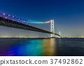 Akashi Kaikyo Bridge Night view 37492862