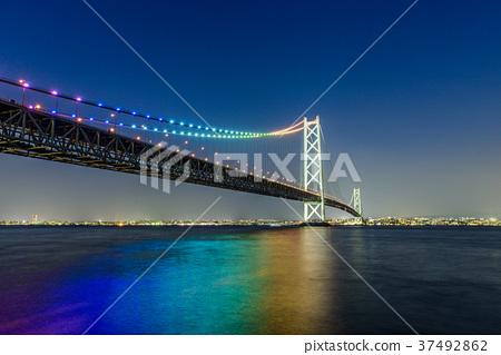 夜景 桥 桥梁 37492862