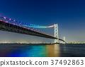 Akashi Kaikyo Bridge Night view 37492863