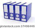 Blue folder on white, 3d rendering 37496446
