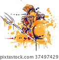 roman warrior with the trident 37497429