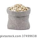 White kidney beans in bag isolated on white 37499638