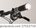 Bike grip of mountain bike, close up view 37503730