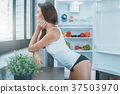 Young sexy woman in the kitchen lifestyle 37503970