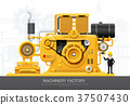Industrial machine engine Factory construction 37507430