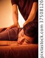 按摩美容治療男子全身按摩女人 37508126
