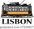 Old classic yellow tram of Lisbon 37509057