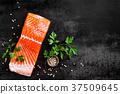 salmon, fish, fillet 37509645
