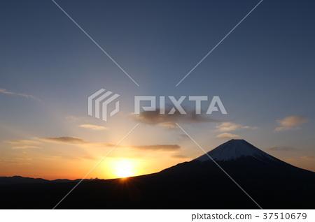 후지산, 빛, 새벽 37510679