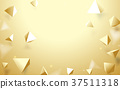 Abstract Gold 3d pyramids background. 37511318