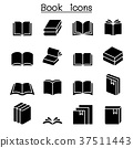 Book icon set 37511443
