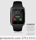 Realistic smart watch modern design, Vector 37511531